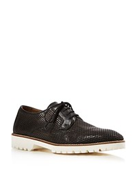 Bernardo Iris Perforated Oxfords Black