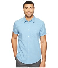 Calvin Klein Short Sleeve Chambray Shirt Ocean Breeze Men's Clothing Blue