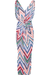T Bags Printed Jersey Maxi Dress Pink