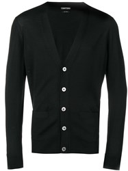Tom Ford Long Sleeve Fitted Cardigan Black