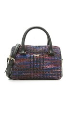 Kate Spade Lane Tweed Mini Satchel Burgundy Multi