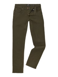 7 For All Mankind Men's Slimmy Slim Fit Luxe Performance Colour Jeans Khaki
