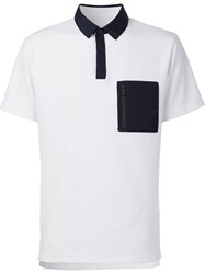 Aztech Mountain 'Maroon Creek' Polo Shirt White