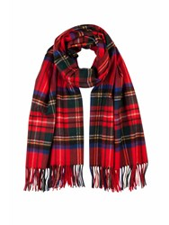 Johnstons Of Elgin Cashmere Stole Red