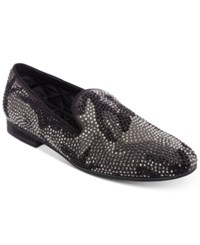 acb85e5adc4 Steve Madden Men s Recruit Embellished Smoking Slippers Men s Shoes Black  Suede