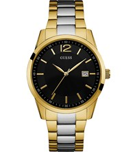 Guess W0901g4 Perry Gold Plated And Stainless Steel Watch
