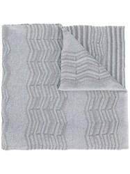 M Missoni Knitted Scarf Grey