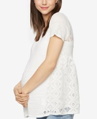 A Pea In The Pod Maternity Lace Back T Shirt Soft White