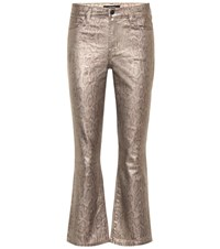 J Brand Selena Mid Rise Bootcut Jeans Gold