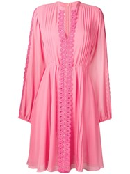 Giamba Embroidered Detail Dress Pink