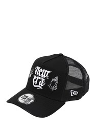 New Era Newera Script Cotton And Mesh Baseball Hat Black