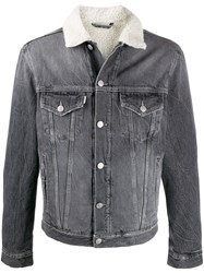 Haikure Fleece Collar Denim Jacket 60
