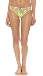 Heidi Klum Intimates Sun Kissed Thong Shifiting Sand Neon Yellow