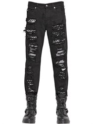 Mcq By Alexander Mcqueen 18Cm Destroyed And Patched Denim Jeans