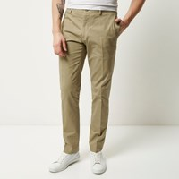 Vito River Island Mens Beige Smart Trousers