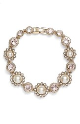 Marchesa Women's Crystal And Faux Pearl Bracelet