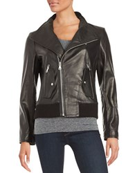 Vince Camuto Asymmetric Leather Jacket