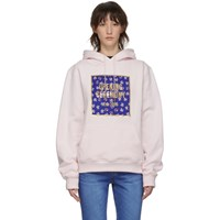 Opening Ceremony Pink Floral Box Logo Hoodie
