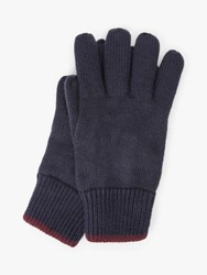 John Lewis And Partners Colour Tipped Fleece Gloves Navy Burgundy