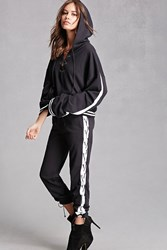 Forever 21 Private Academy Sweatpants Black White