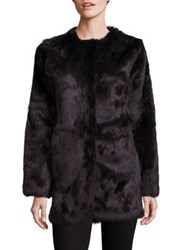 Adrienne Landau Rabbit Fur Coat Brown