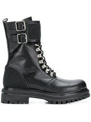Albano Lace Up Boots Black