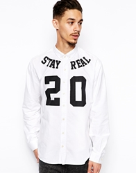 A Question Of Shirt With Stay Real Print White