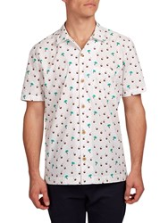 Hymn Aloha Short Sleeve Printed Shirt Cream