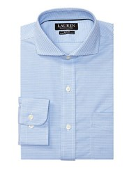 Lauren Ralph Lauren Slim Fit Gingham Dress Shirt Blue