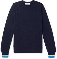 Orlebar Brown Ethan Striped Cashmere Sweater Blue