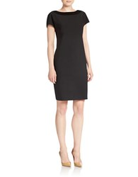 Anne Klein Illusion Detail Shift Dress Black
