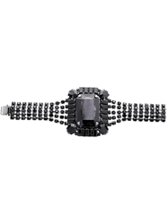 Tom Binns Square Gem Crystal Bracelet Black
