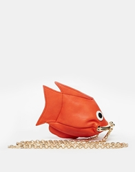 Asos Goldfish Coin Purse With Chain Orange