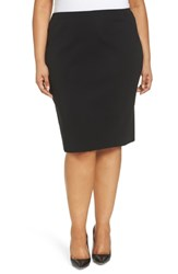 Ming Wang Plus Size Straight Skirt Black