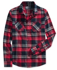 American Rag Men's Plaid Flannel Shirt Only At Macy's Basic Navy