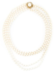 Chanel Vintage Defile Haute Couture Pearls Necklace Nude And Neutrals
