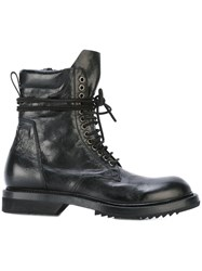 Rick Owens Low Army Boots Black