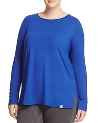 Marina Rinaldi Vanga Button Detail Tee China Blue