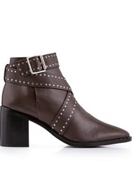 Senso Haig I Studded Ankle Boots Brown