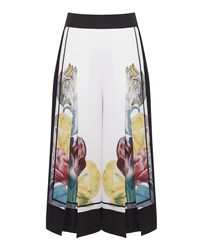 Ted Baker Culot Tranquility Wide Leg Trousers White
