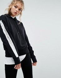 Cheap Monday Hoodie With Taping Black