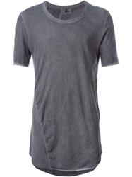 Lost And Found Round Neck T Shirt Grey