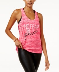 Material Girl Active Juniors' Racerback Cutout Graphic Tank Top Only At Macy's Flashmode