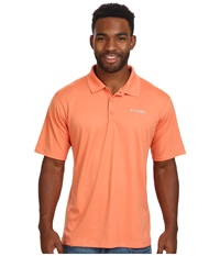 Columbia Pfg Zero Rules S S Polo Bright Peach Men's Short Sleeve Pullover Pink