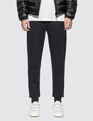 Moncler Contrast Waistband Trackpants Blue