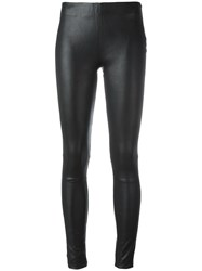 Just Female Leather Leggings Black