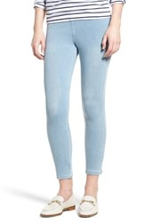 Lysse Toothpick High Rise Crop Denim Leggings Cashmere Blue