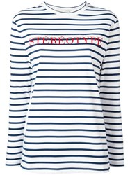 Etre Cecile 'Stereotype' Embroidery T Shirt White