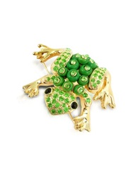 A Z Collection Green Frog Brooch