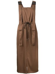 G.V.G.V. Twill Utility Pinafore Dress Brown